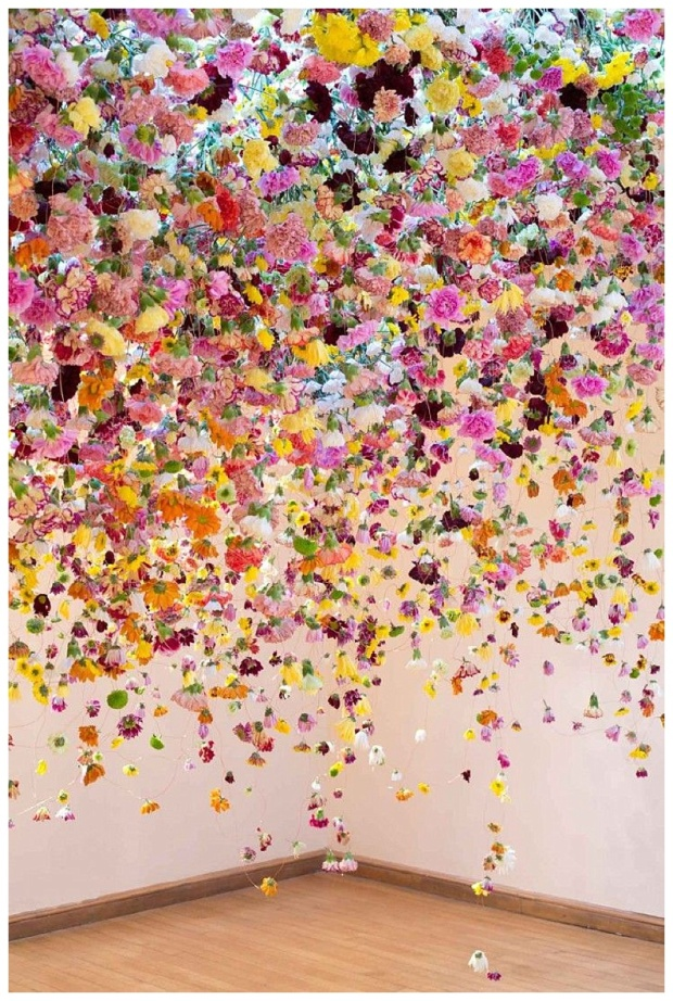 Khaki-and-Chrome-Floral-Installation-By-Rebecca-Louise-Law