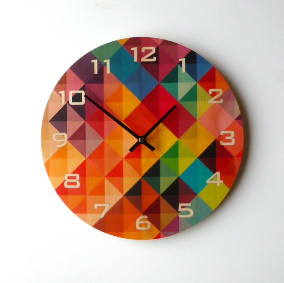 clock-etsy-time-managment-khaki-and-chrome
