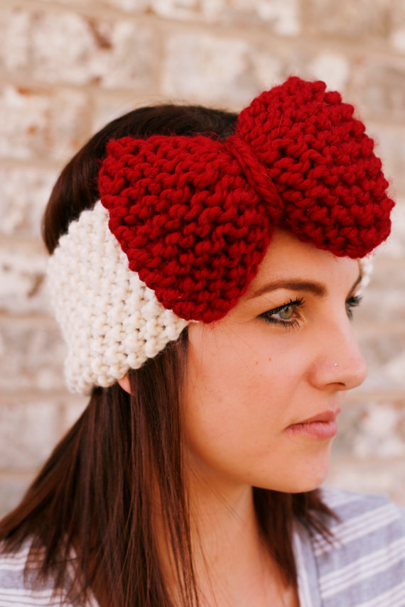 ou-sooners-knit-headband-etsy-khaki-and-chrome