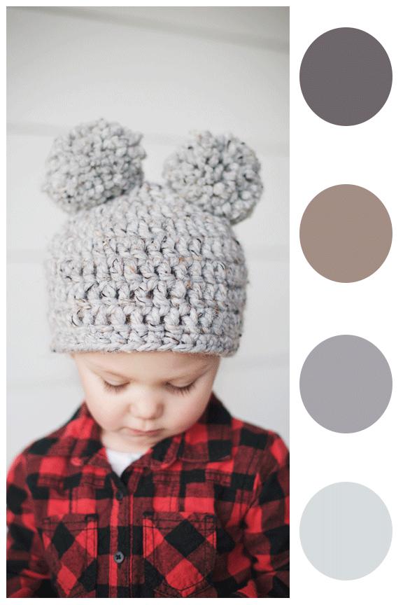 make-it-monday-khaki-and-chrome-double-pom-pom-crochet-beanie